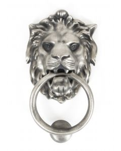 Antique Pewter Lion Head Knocker