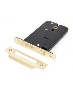 "Polished Brass 6"" Horizontal 5 Lever Sash Lock"