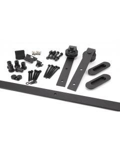 100kg Black Sliding Door Hardware Kit (2m Track)
