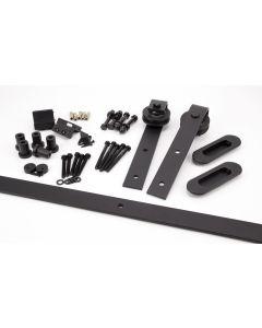 100kg Black Sliding Door Hardware Kit (3m Track)