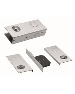 Flat Sliding Door Pull With Wc Turn & Lock. Chrome (Ft Cro Flat)