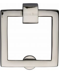 Heritage Brass Square Drop Pull Polished Nickel finish