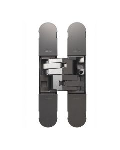 3D INVISIBLE HINGE 130 X 30 MATT NICKEL-POZI SCREWS NOT SUPPLIED