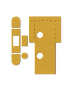EUROSPEC UNIVERSAL UK FLAT LATCH KIT C/W STRIKE PLATE S/A FD30/60