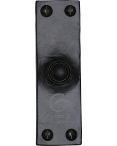 "Black Iron Rustic Bell Push 4"" x 1.25"""