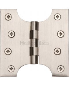 "Heritage Brass Parliament Hinge Brass 4"" x 2"" x 4"" Satin Nickel finish"