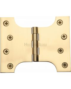 "Heritage Brass Parliament Hinge Brass 4"" x 3"" x 5"" Polished Brass finish"