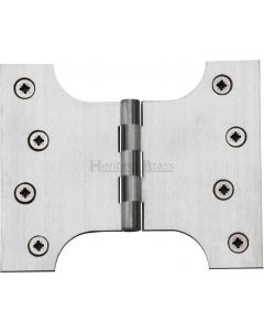 "Heritage Brass Parliament Hinge Brass 4"" x 3"" x 5"" Satin Chrome finish"