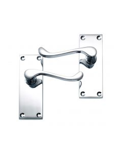 Victorian Scroll Lever Latch Door Handle Polished Chrome Latch Pack