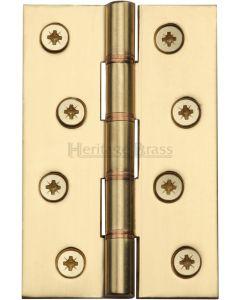 "Heritage Brass Hinge Brass with Phosphor Washers 4"" x 2 5/8"" Polished Brass finish"