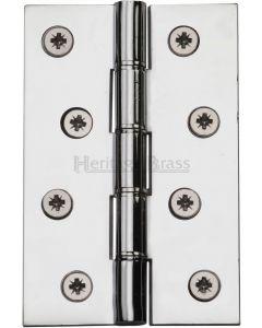 """Heritage Brass Hinge Brass with Phosphor Washers 4"""" x 2 5/8"""" Polished Chrome finish"""