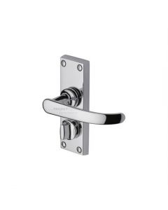 Project Hardware Door Handle for Privacy Set Avon Short Design Polished Chrome finish