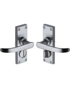 Project Hardware Door Handle for Privacy Set Avon Short Design Satin Chrome finish