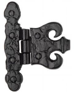 The Tudor Coronet Hinge Black Iron