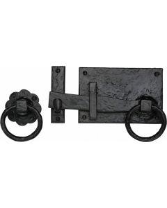 The Tudor Collection Gate Latch Black Iron Finish