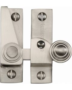 Heritage Brass Sash Fastener Lockable Satin Nickel Finish