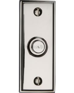 "Heritage Brass Bell Push 3"" x 1"" Polished Nickel finish"