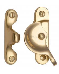 Heritage Brass Fitch Pattern Sash Fastener Polished Brass finish