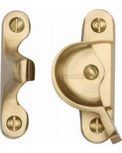 Heritage Brass Fitch Pattern Sash Fastener Satin Brass finish