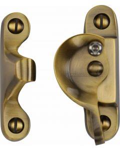 Heritage Brass Fitch Pattern Sash Fastener Lockable Antique Finish