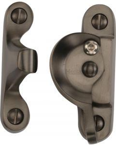 Heritage Brass Fitch Pattern Sash Fastener Lockable Matt Bronze Finish
