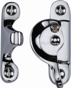 Heritage Brass Fitch Pattern Sash Fastener Lockable Polished Chrome Finish