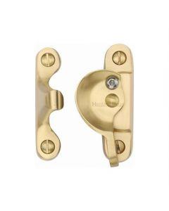 Heritage Brass Fitch Pattern Sash Fastener Lockable Satin Brass Finish