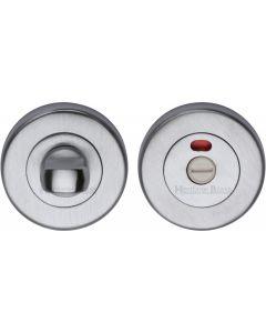 Heritage Brass Indicator Turn & Release for Bathroom Doors Satin Chrome finish
