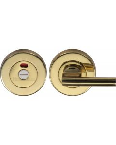 Heritage Brass Indicator Turn & Release for Bathroom Doors Polished Brass finish