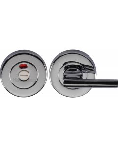 Heritage Brass Indicator Turn & Release for Bathroom Doors Polished Chrome finish