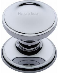 "Heritage Brass Round Centre Door Knob 3"" Polished Chrome finish"