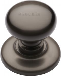 "Heritage Brass Centre Door Knob Round Design 3"" Matt Bronze Finish"