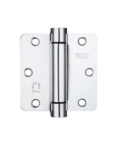 """Spring Hinge Plus Slave Pack - Radius - 3.5""""x3.5""""x2.5 - Polished Chrome (Contains 2 Spring and 1 Unsprung Hinge)"""