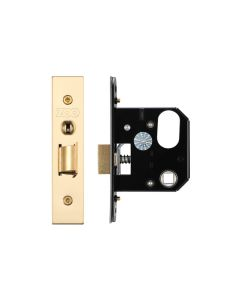 Replacement Nightlatch - 64mm c/w PVD Forend and Strike