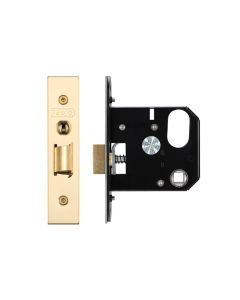 Replacement Nightlatch - 76mm c/w PVD Forend and Strike